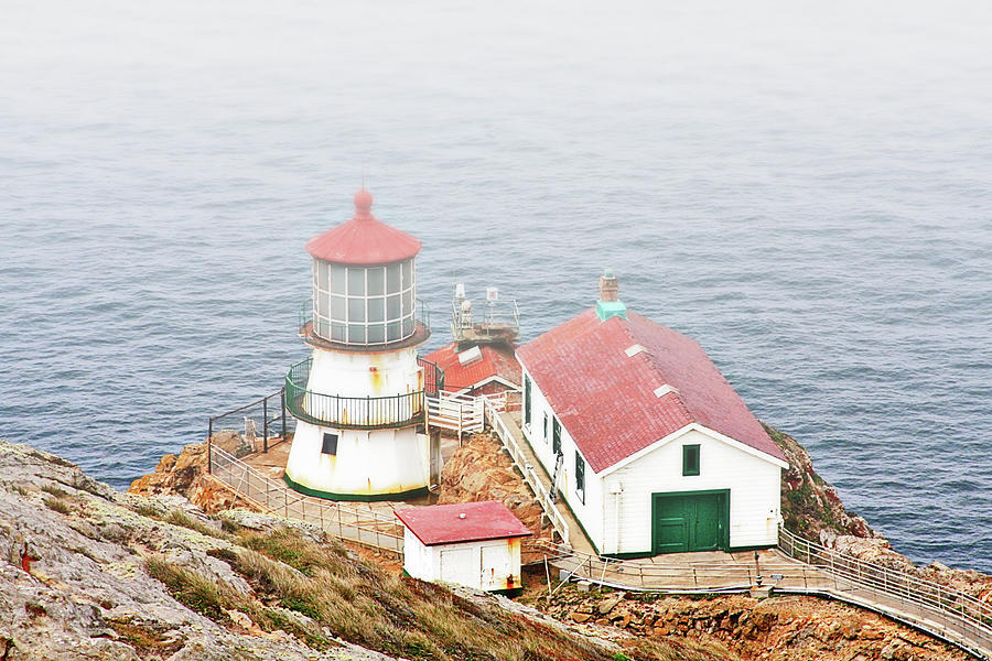 Point Reyes Photograph - Point Reyes Lighthouse At Point Reyes National Seashore Ca by Christine Till