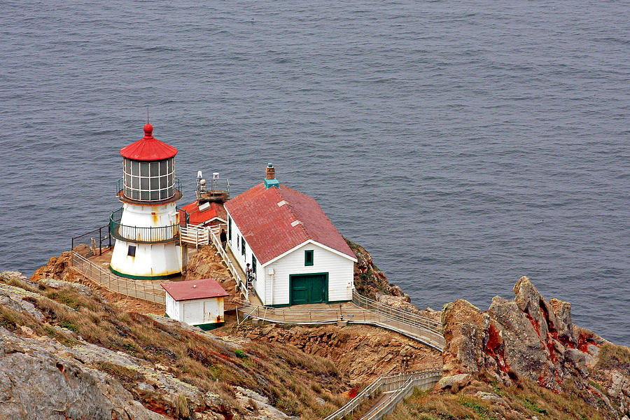 Point Reyes Lighthouse Photograph - Point Reyes Lighthouse Ca by Christine Till