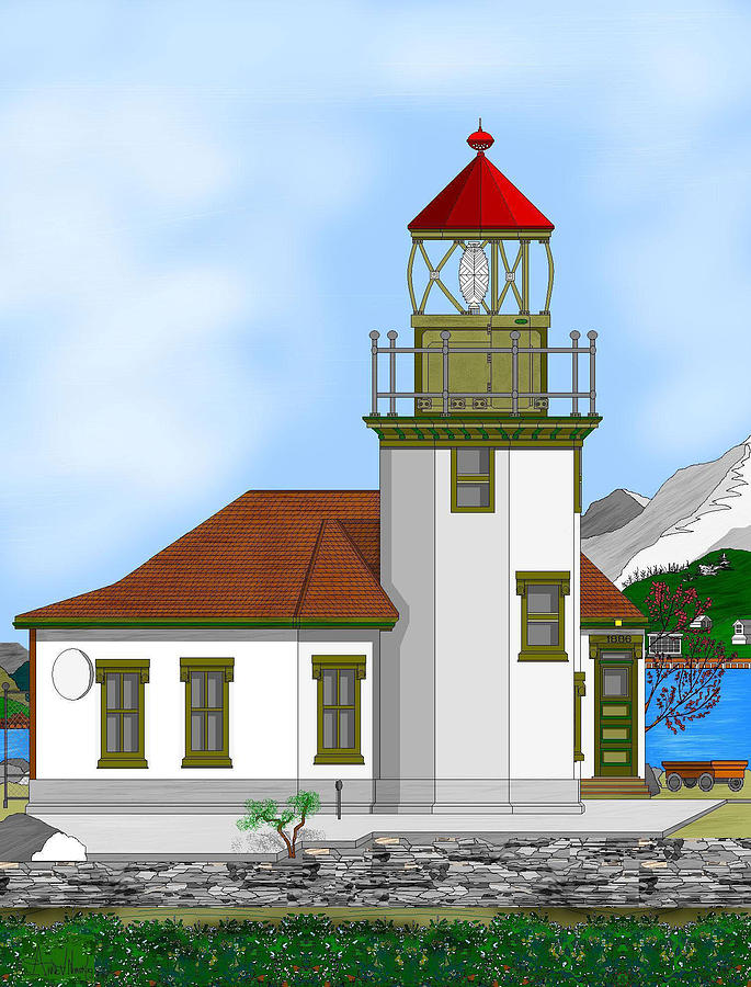 Lighthouse Painting - Point Robinson On Vashon Island by Anne Norskog