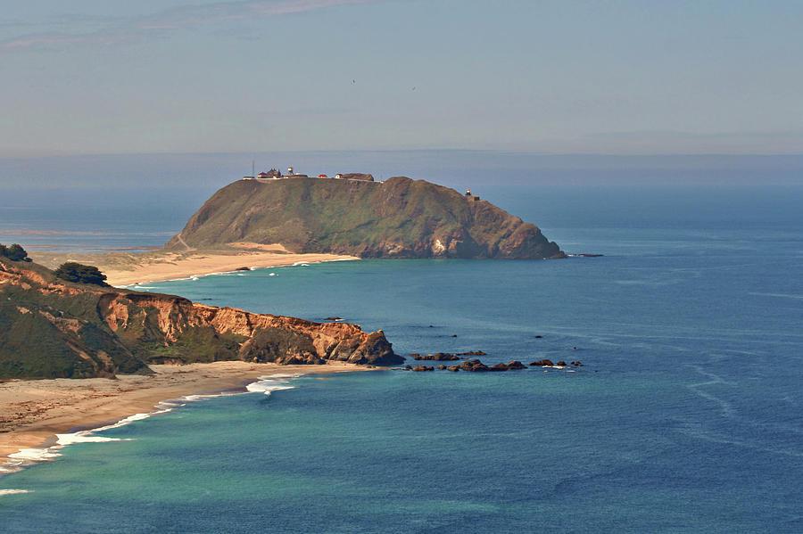 Point Sur Lighthouse Photograph - Point Sur Lighthouse On Central Californias Coast - Big Sur California by Christine Till