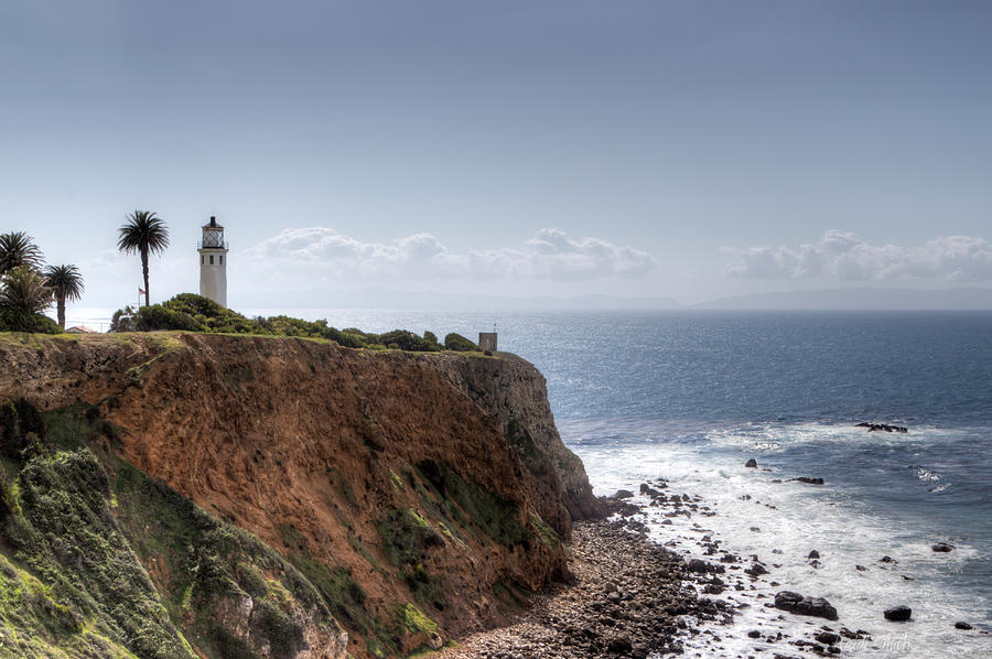 Angeles Photograph - Point Vicente Lighthouse In Winter by Heidi Smith