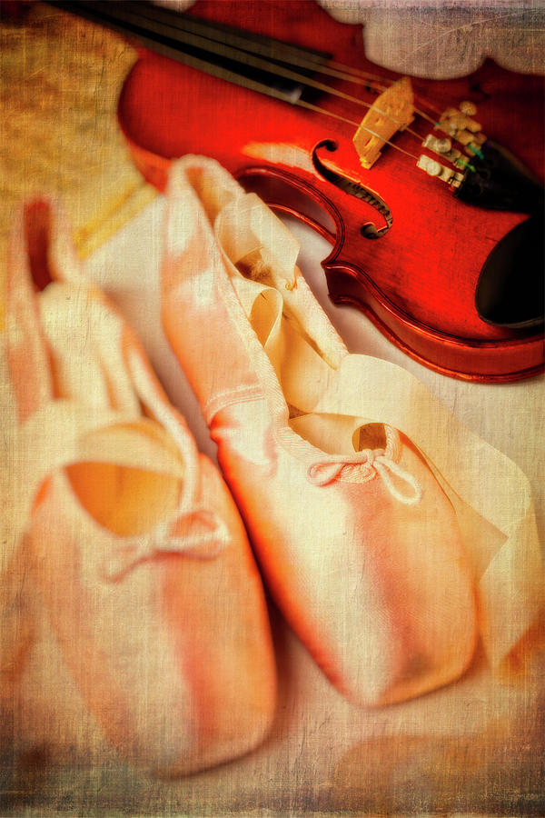 Fiddle Photograph - Pointe Shoes And Violin by Garry Gay