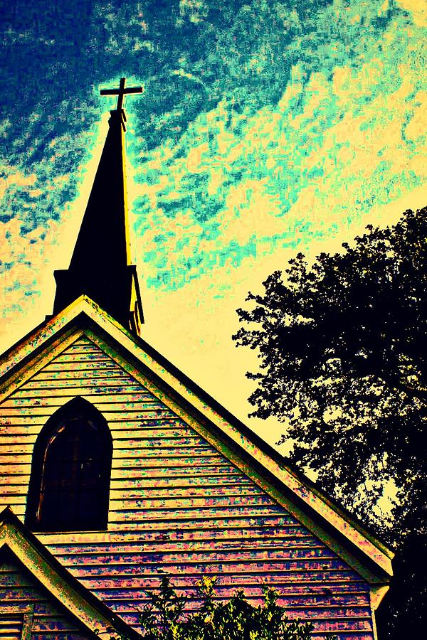 Church Photograph - Pointing The Way by Jill Tennison