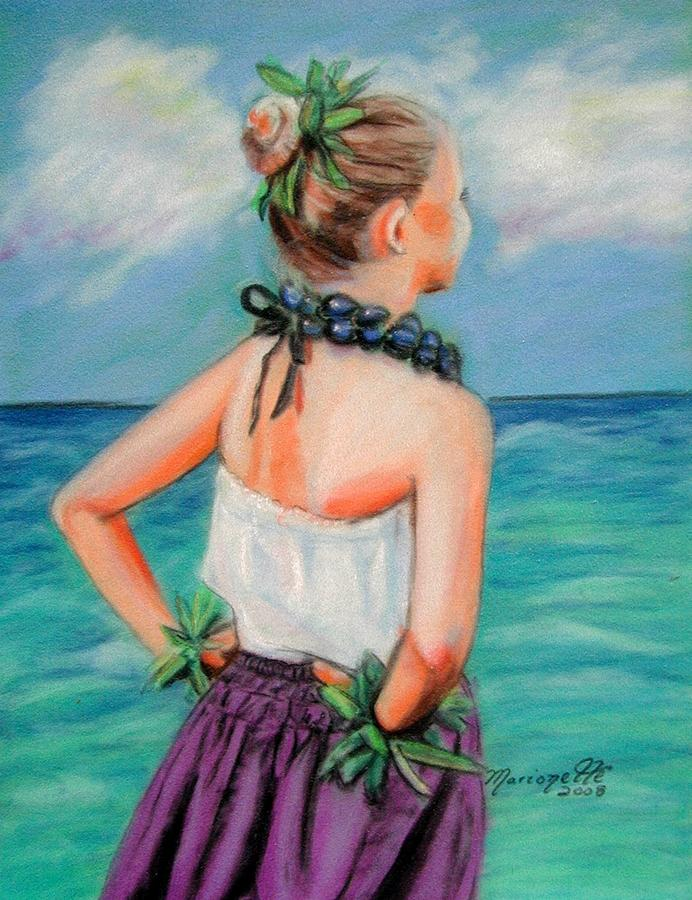 Hula Dance Painting - Poipu Hula by Marionette Taboniar