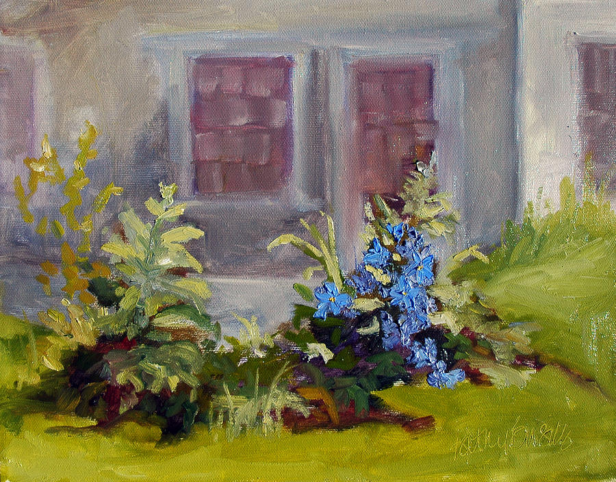 Clematis Painting - Poison Ivy And Clematis by Kathy Busillo