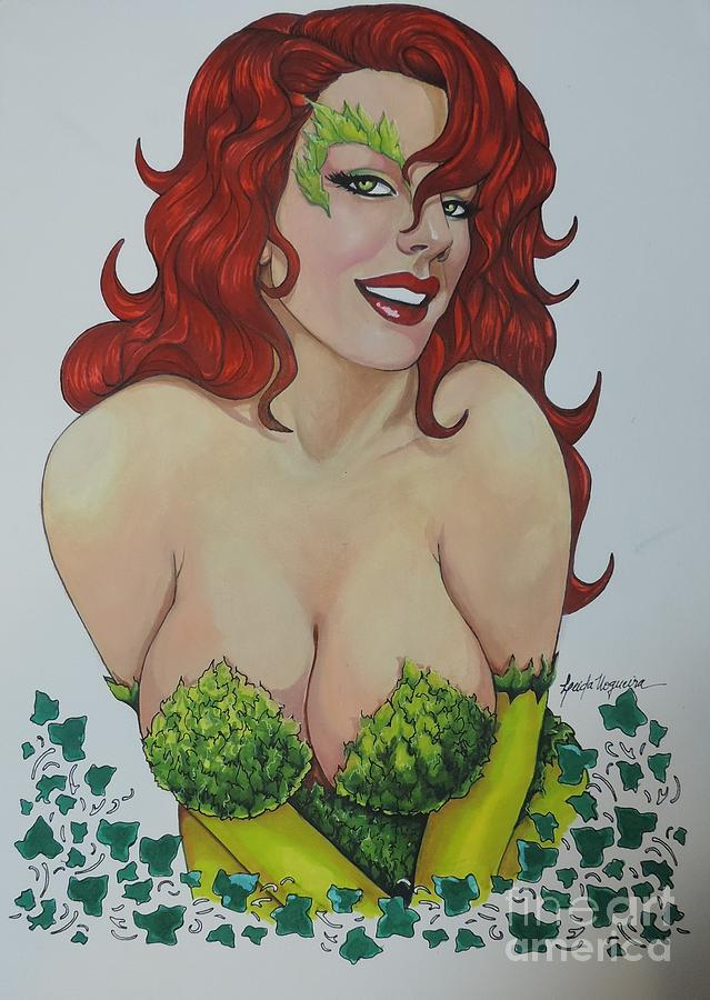 Dccomics Painting - Poison Ivy by Leida Nogueira