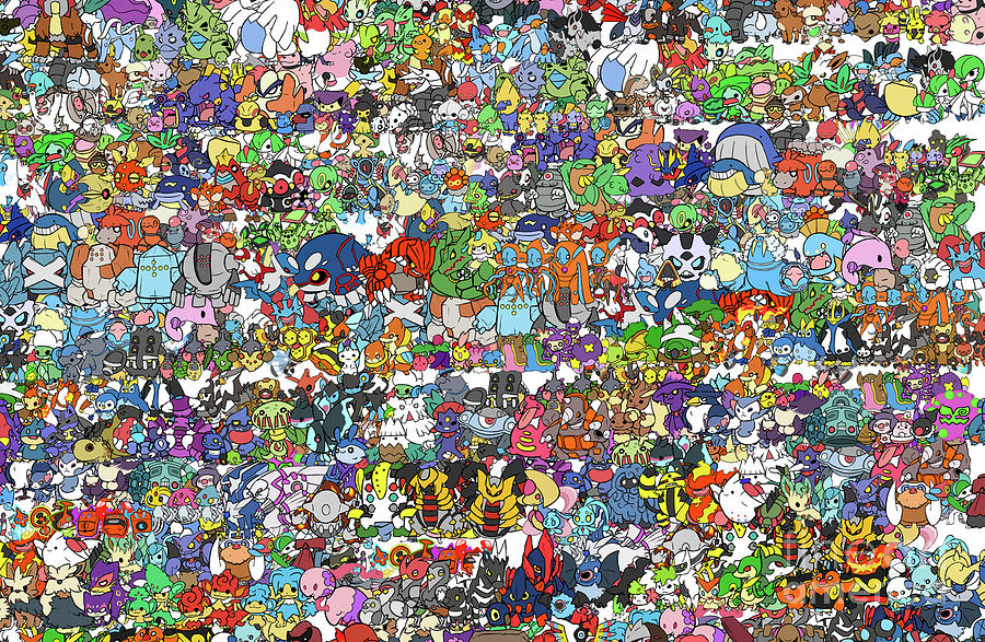 Cool Digital Art - Pokemon  by Mark Ashkenazi