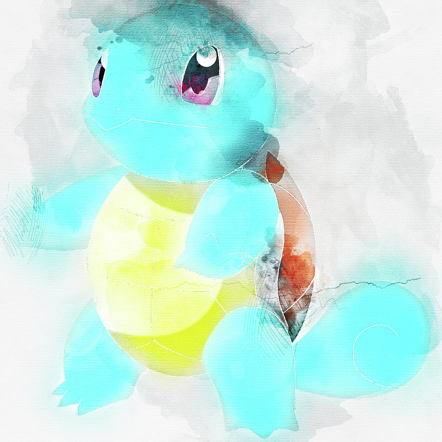 cc3cffa3 Pokemon Painting - Pokemon Squirtle Abstract Portrait - By Diana Van by Diana  Van