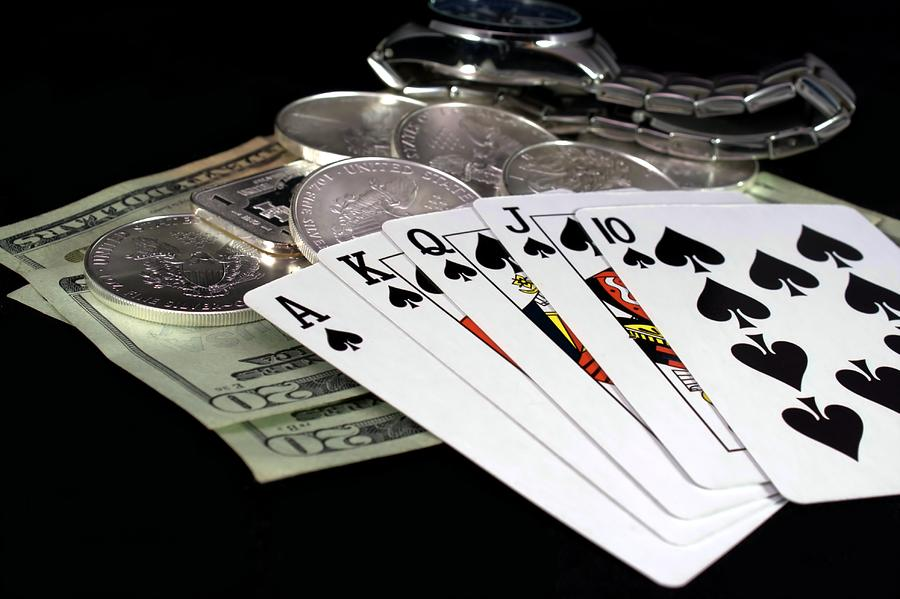 Poker Photograph - Poker - The Winning Hand by Lynnette Johns
