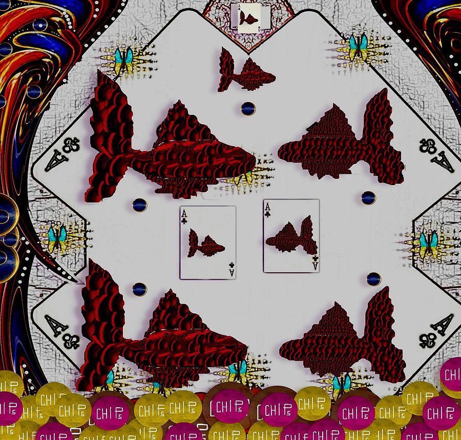Poker Art Mixed Media