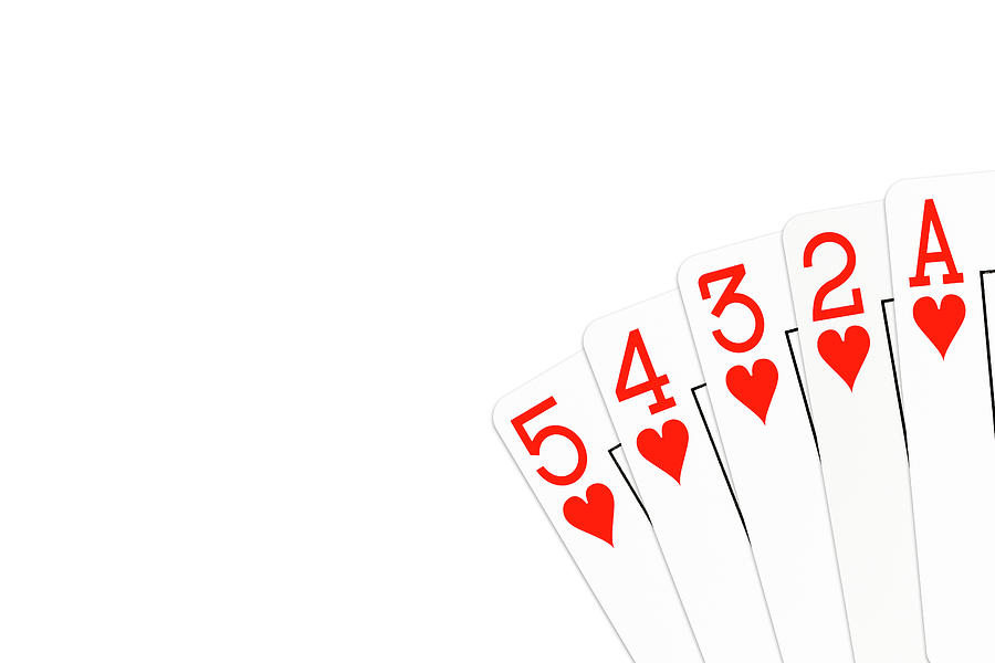Poker Hand 5 High Straight Flush In Hearts Photograph By Henning Marquardt