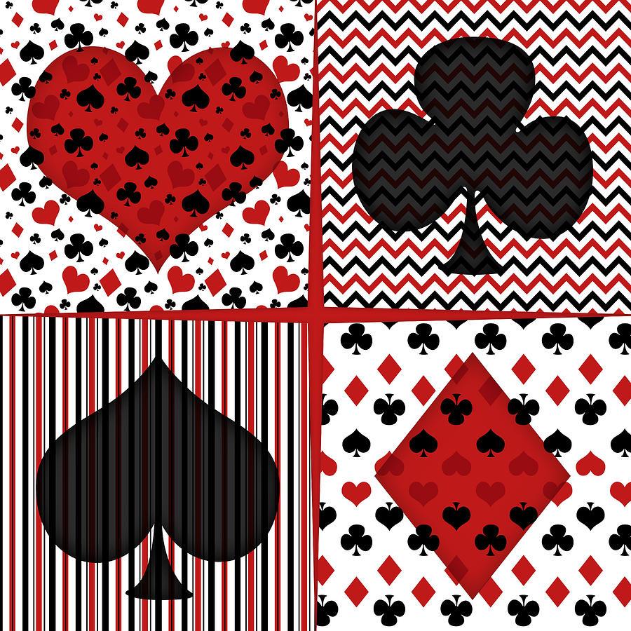 Poker Digital Art - Poker In Four by Flo Karp