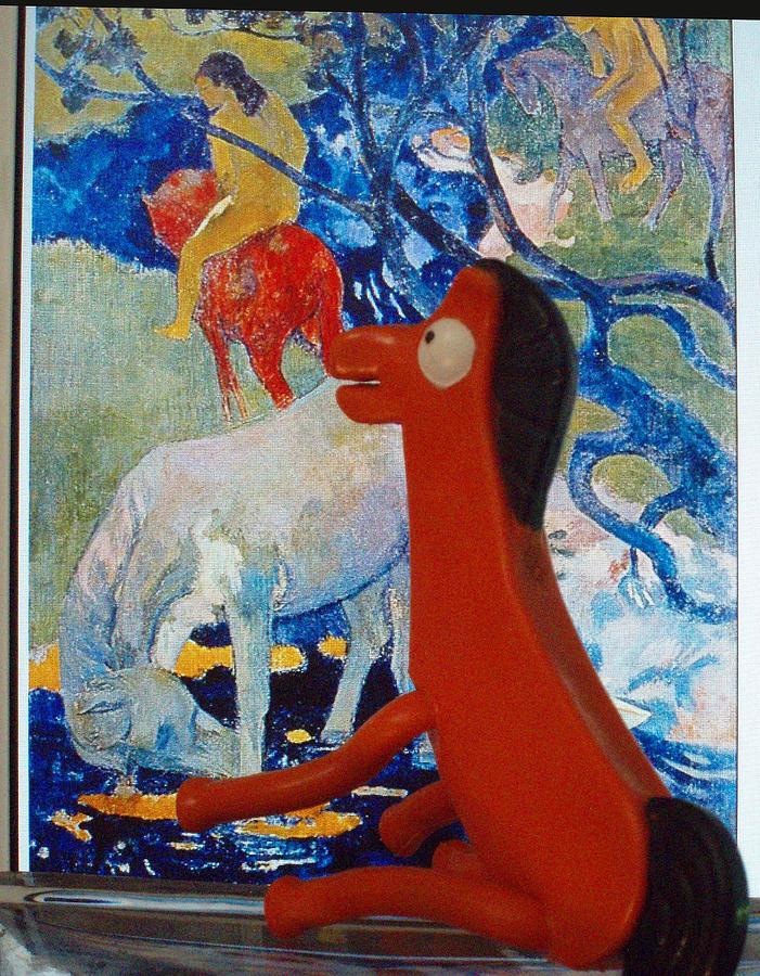 Pokey Photograph - Pokey Studies Gauguin by Albie Davis
