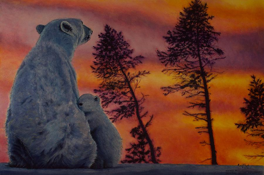 Wildlife Painting - Polar Affection by Roland Miguel