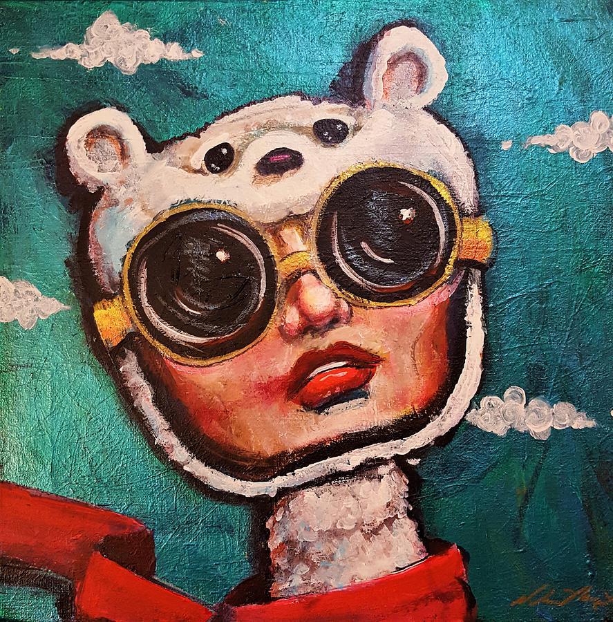 Polarbear Painting - Polar Bear Club by Nelson Perez