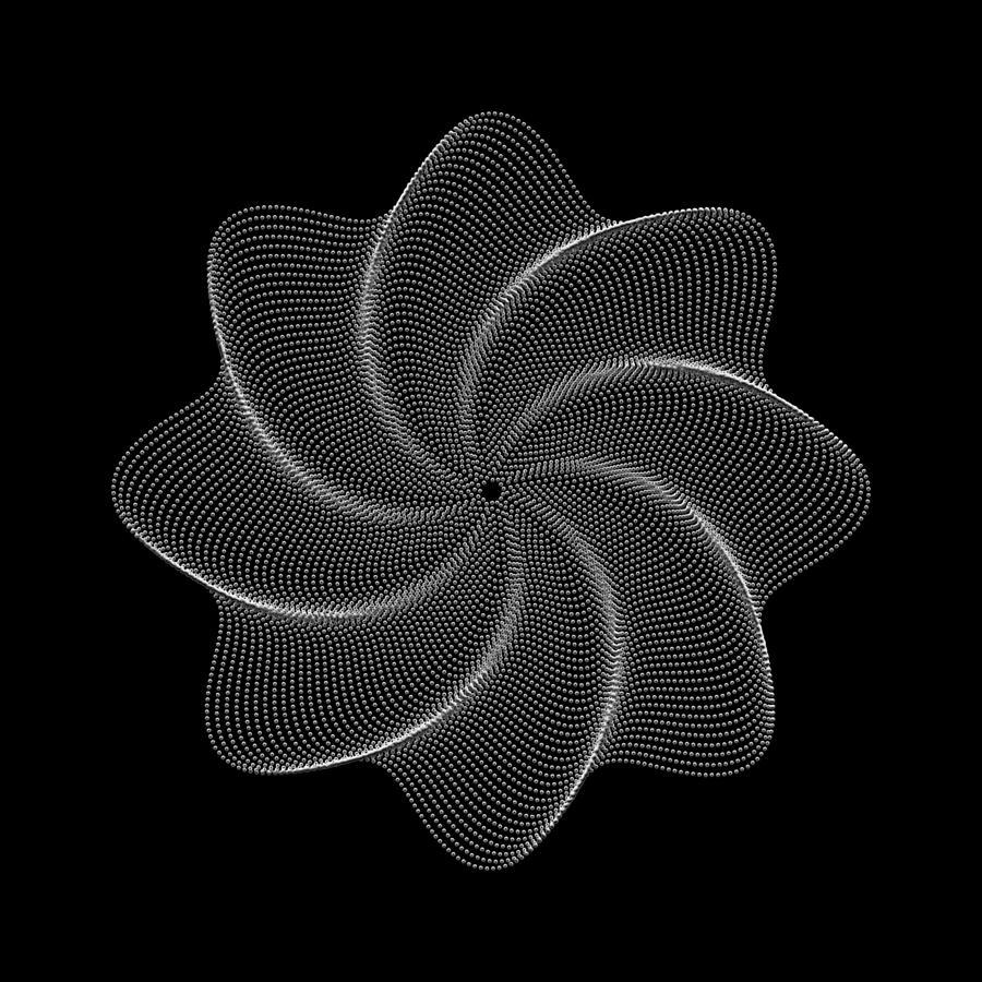 Flower Digital Art - Polar Flower Viiik by Robert Krawczyk