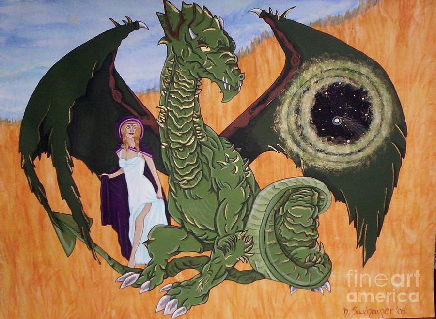 Dragon Painting - Polaris by Kerry Swinamer