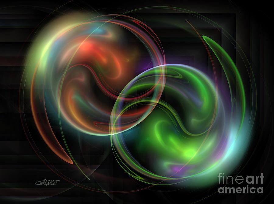 Fractal Digital Art - Polarity by Jutta Maria Pusl