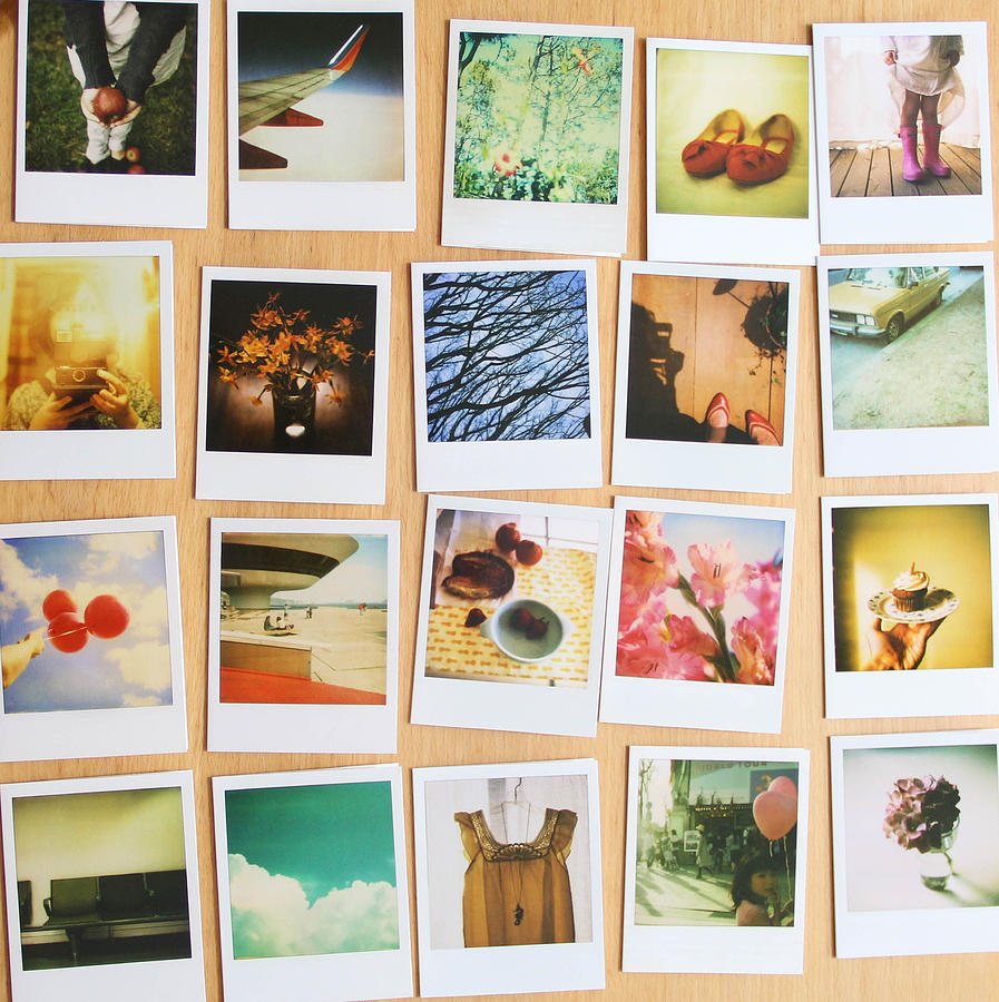 Notecards Photograph - Polaroid Notecards by Peggy Berger