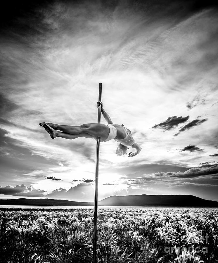 Pole Dance Hdr At Sunset Photograph