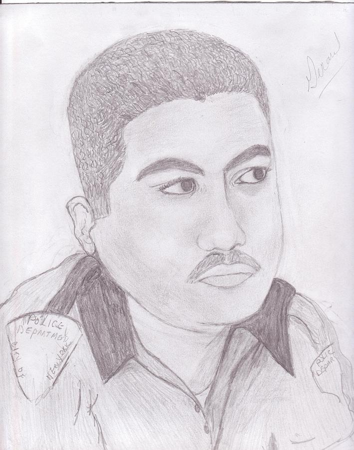 Police Officer Drawing by Helen Vanterpool
