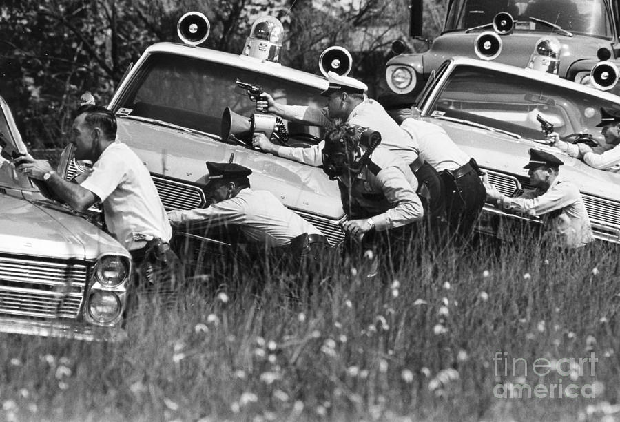 1950s Photograph - Police Reinforcements by Granger