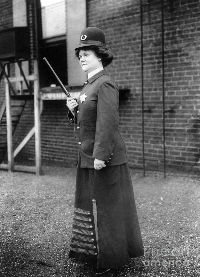 1909 Photograph - Policewoman, 1909 by Granger