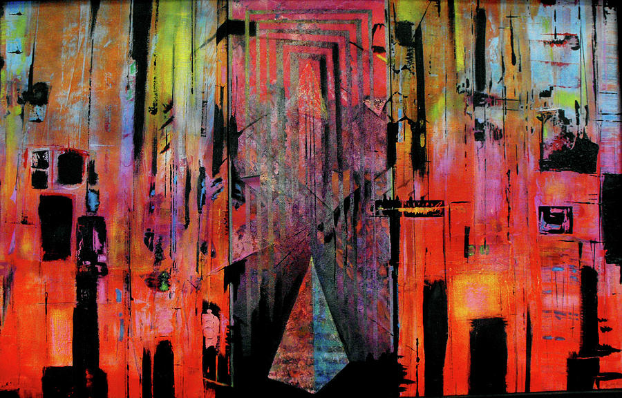 Mixed Media Painting - Polis Two by Ralph Levesque