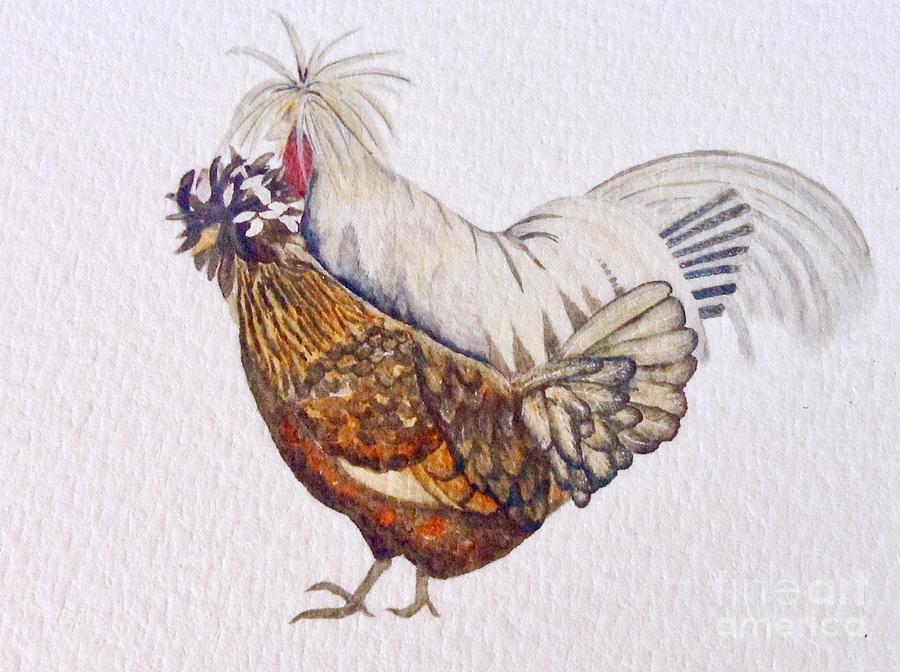 Polish Crested Chickens by Lynda Evans