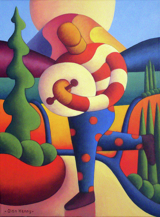Polka Bodhran player in Dreamscape by Alan Kenny