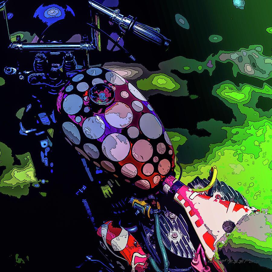 Sweden Digital Art - Polka Dot Bike by Mikael Jenei