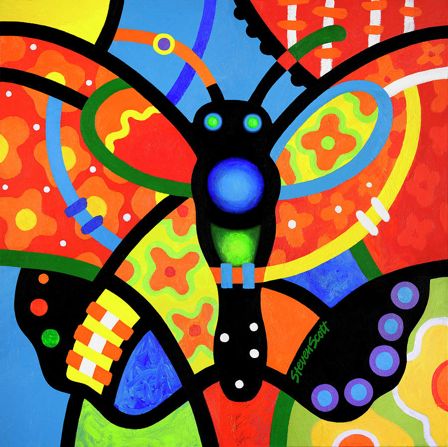 Kaleidoscope Butterfly by Steven Scott