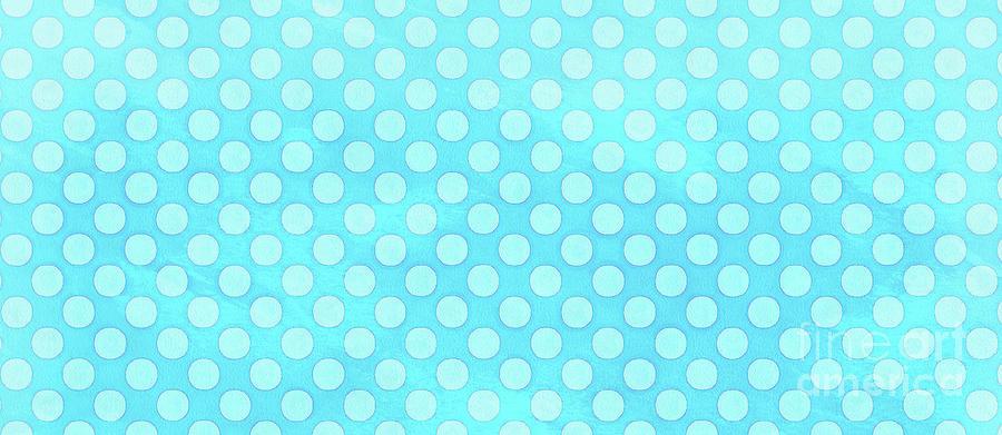 Mug Painting - Polka Dots Blue Mug by Edward Fielding