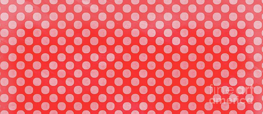 Mug Painting - Polka Dots Red Mug by Edward Fielding