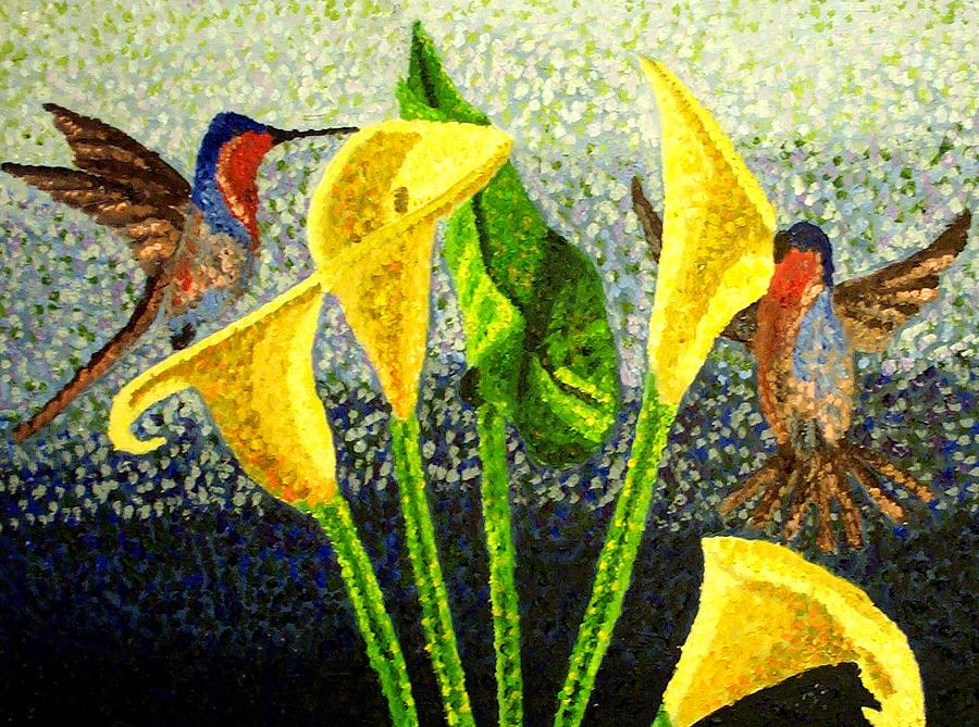 Birds Painting - Pollination by Mats Eriksson