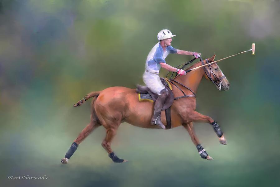 Polo In Progress by Kari Nanstad