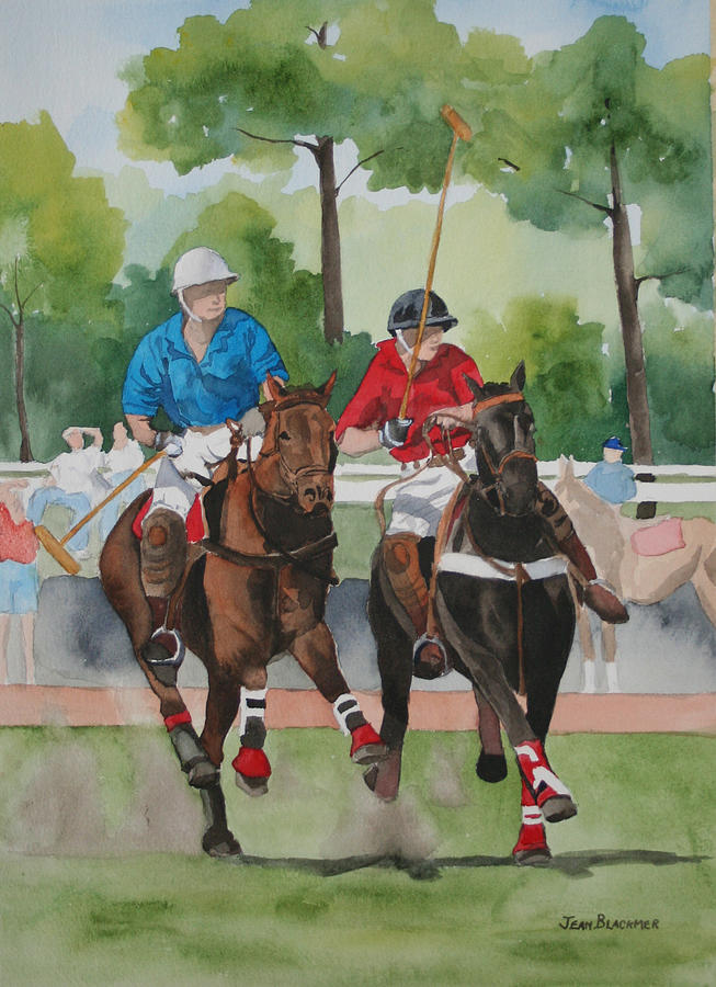 Polo Painting - Polo In The Afternoon 2 by Jean Blackmer