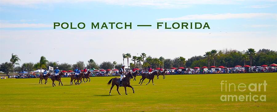 Polo Digital Art - Polo Match Florida by Karen Francis