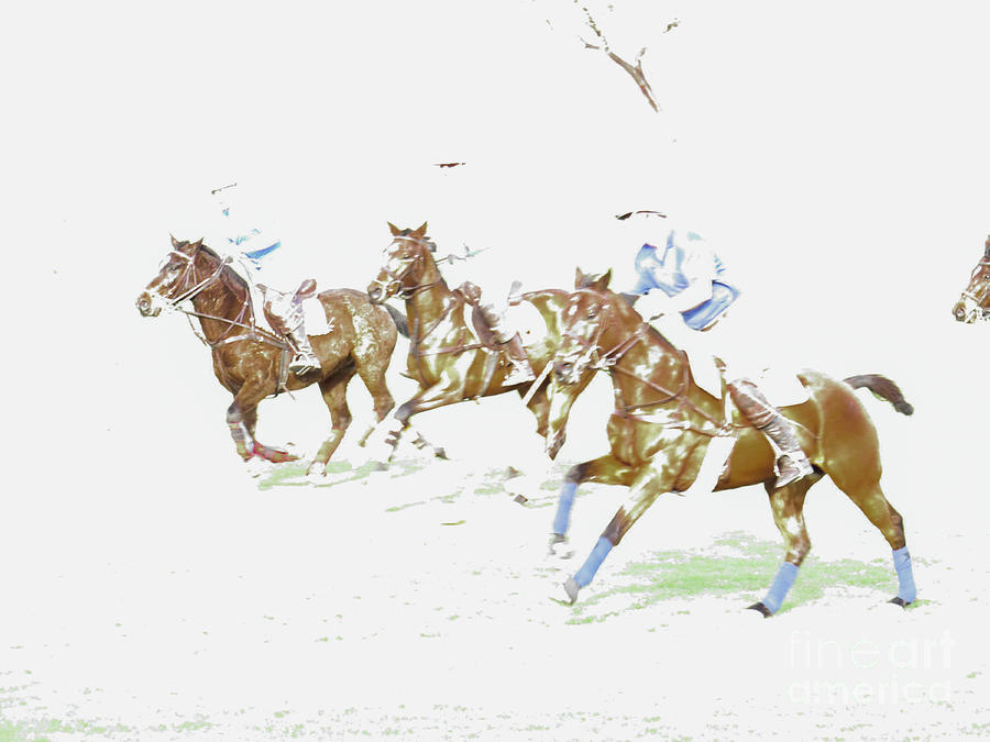 Polo Ponies 1 by Christy Garavetto