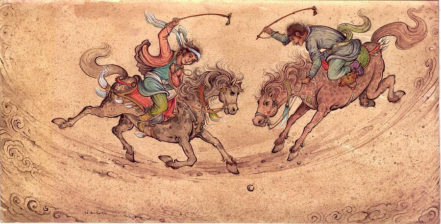 Polo Painting by Reza Badrossama