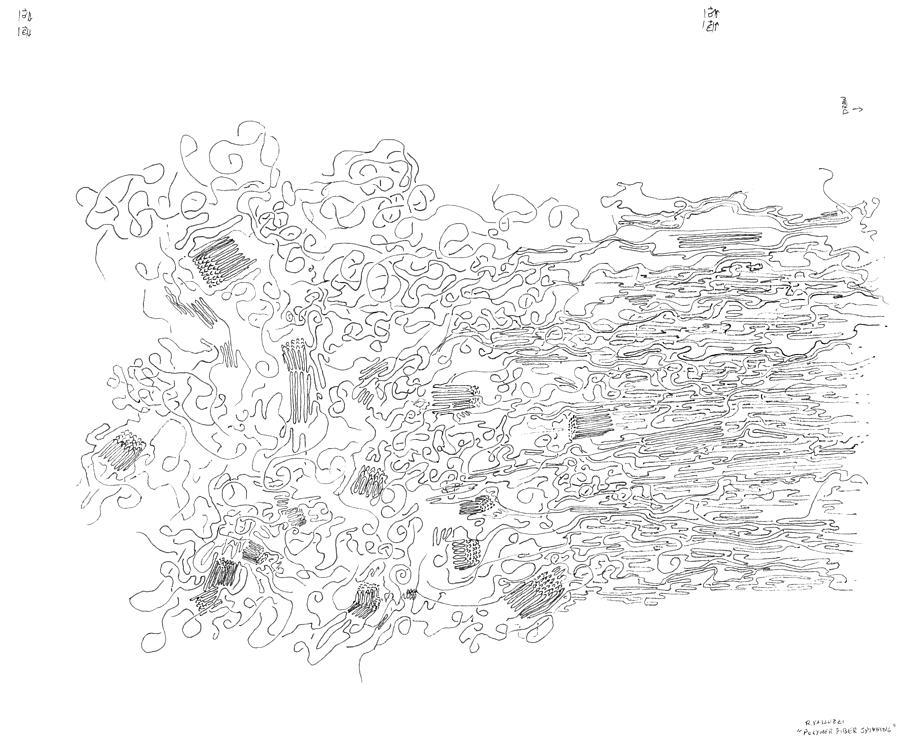 Polymer Drawing - Polymer Fiber Spinning by Regina Valluzzi