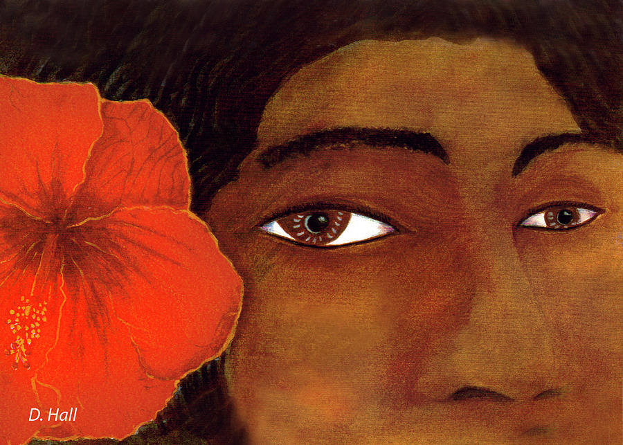 Polynesian Painting - Polynesian Girl #67 by Donald k Hall