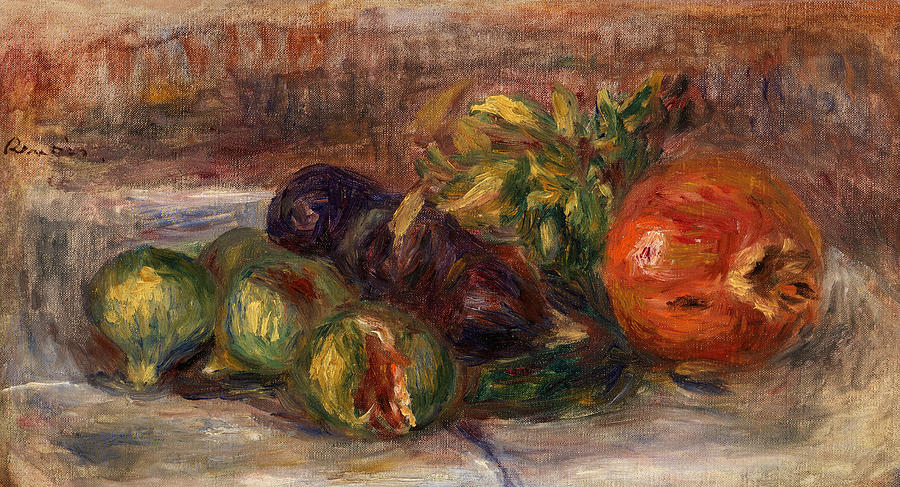 Pomegranate Painting - Pomegranate And Figs by Pierre-Auguste Renoir
