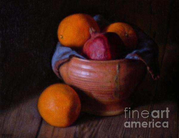 Still Life Painting - Pomegranate and Oranges by Keith Murray