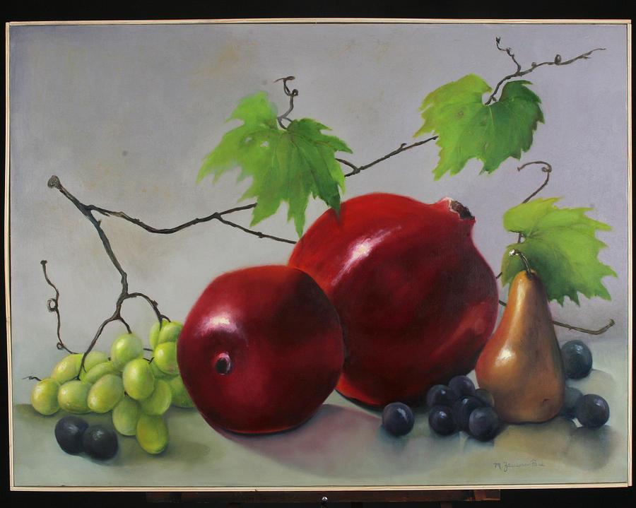 Fruit Painting - Pomegranate by Martha Zausmer paul