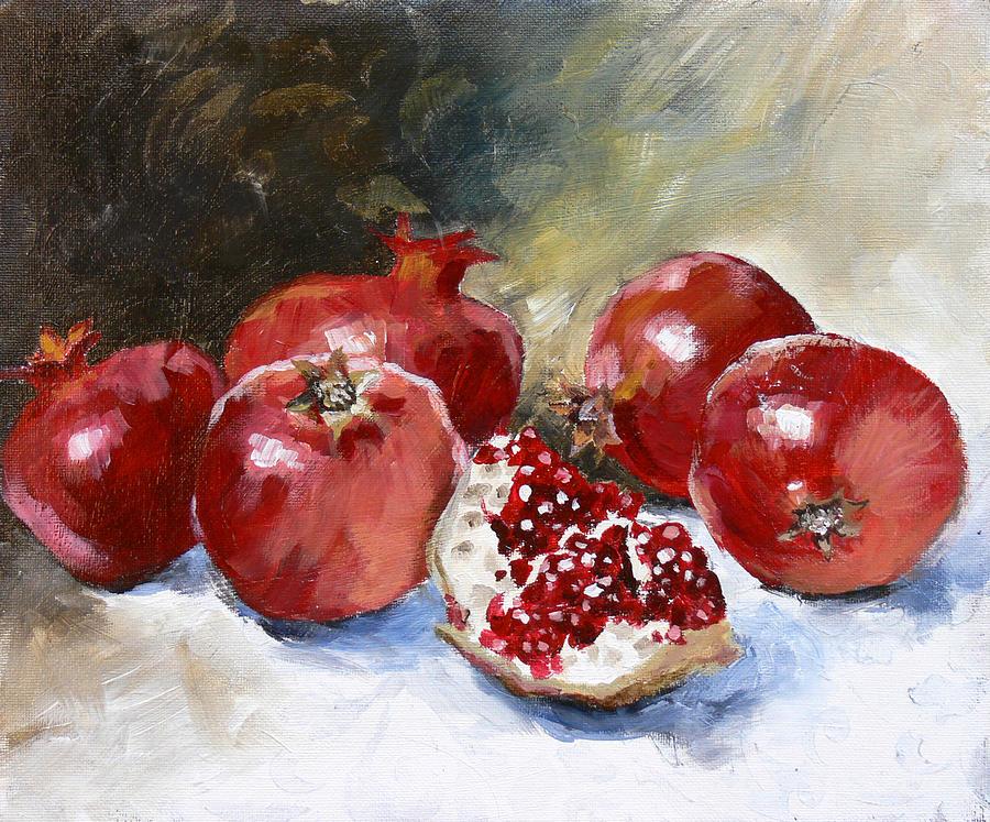 Pomegranate Painting - Pomegranate by Tanya Jansen