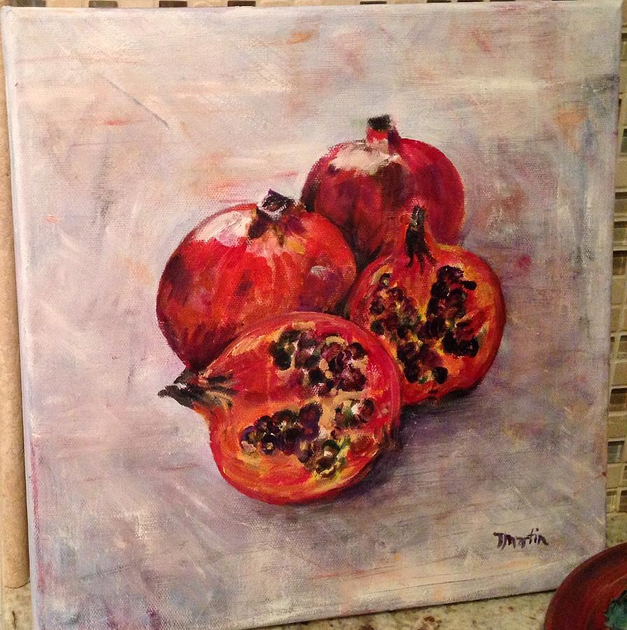 Pomegranates Painting by Tim Martin