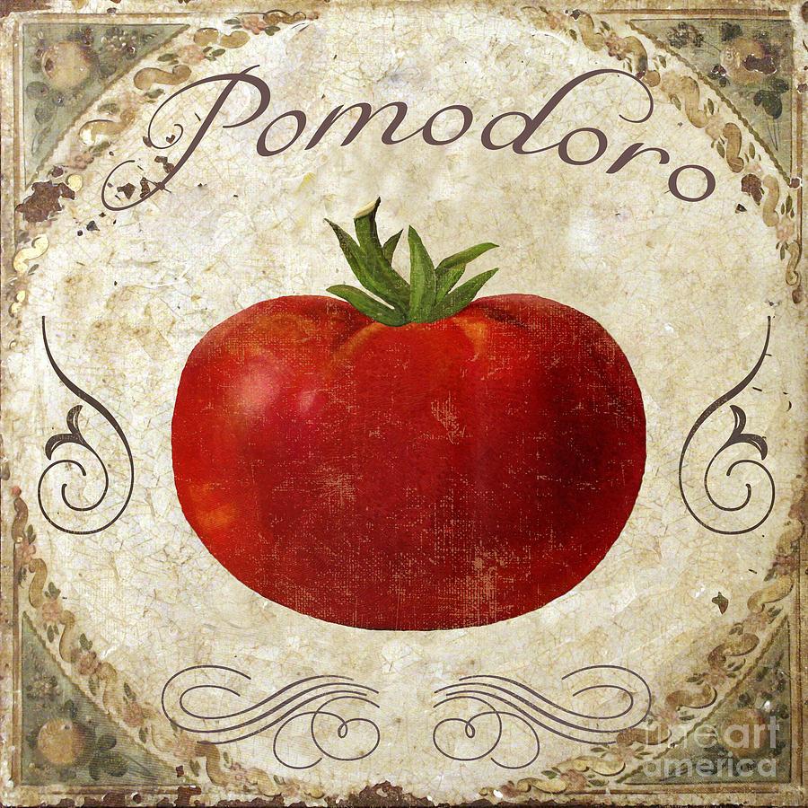 Pomodoro Tomato Italian Kitchen Painting