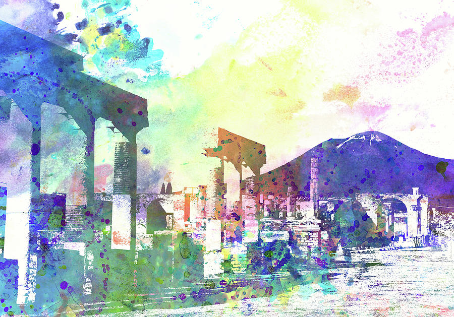 Pompei, Vesuvio Painting