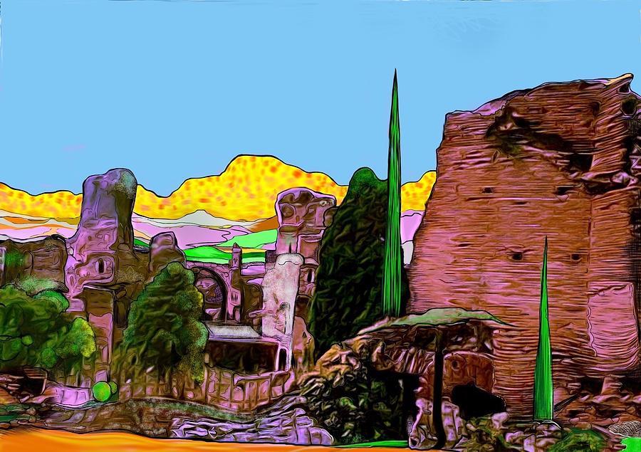 Italy Digital Art - Pompeii by Jack Monninger
